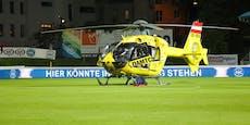 Spektakulärer Heli-Einsatz während Wiener Fußballmatch
