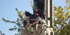 Brand eines Klein-Trafo der Wiener Lokalbahnen