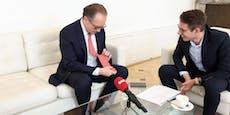 Kanzler Schallenberg erklärt seine kuriosen Krawatten