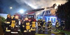 Feuerwehr-Großeinsatz bei Wohnhausbrand in St. Pölten