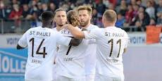 Burgstaller-Doppelpack: St. Pauli dreht Rückstand