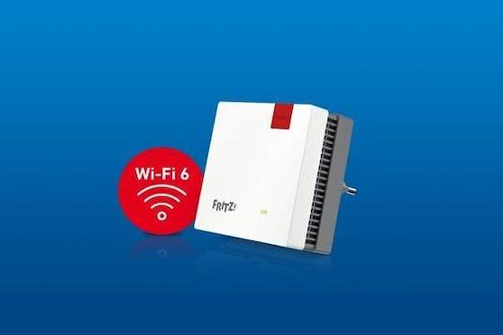 Neu: Kompakter und vielseitig einsetzbarer FRITZ!Repeater 1200 AX mit Wi-Fi 6 und WLAN Mesh.