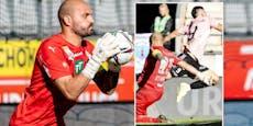 Wattens-Goalie Oswald bei Rot-Attacke schwer verletzt