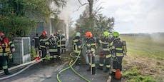 Sechs Wehren bei Hausbrand in Saubersdorf im Einsatz