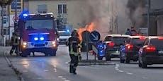 Lenker (50) tankt voll, Auto geht in Flammen auf