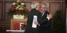 Bussi, Bussi bei Auszeichung für Jean-Claude Juncker