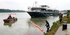 Kilometerlanger Ölfilm zieht sich über Donau