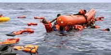 Dutzende Migranten mussten um ihr Leben schwimmen