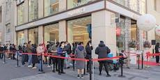 Huawei öffnet Shop in Wien – Kunden stehen Schlange