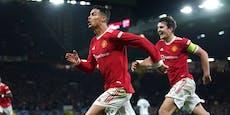 Ronaldo-Siegtreffer! United holt 0:2-Rückstand auf