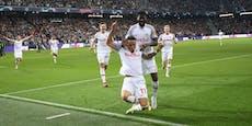 3:1-Erfolg! Starke Salzburger schlagen auch Wolfsburg