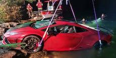 31-Jähriger versinkt mit Lamborghini im Mondsee