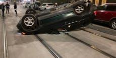 Favoritner Alkolenker crasht BMW in 7 Autos