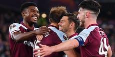 West Ham fertigt Genk ab, Frankfurt ist Tabellenführer