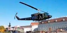 Heeres-Helis donnern über Wien, landen mitten in City