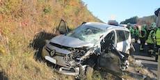 Totalsperre der A2 nach Unfall mit zwei Verletzten