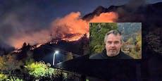 """Waldbrand-Anrainer: """"Die Situation ist gespenstisch"""""""