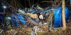 40-Jähriger tot nach Katapult-Crash gegen Bäume