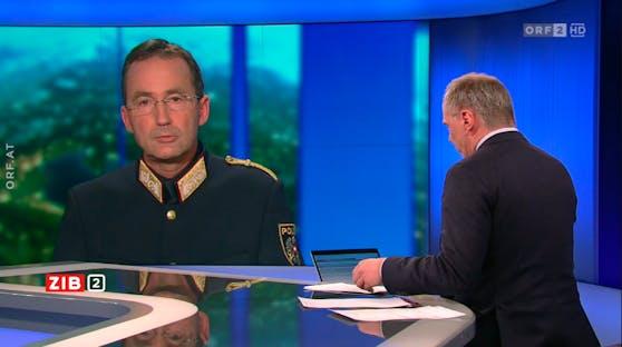 Der Wiener Polizeipräsident Gerhard Pürstl zu Gast in der ZiB2