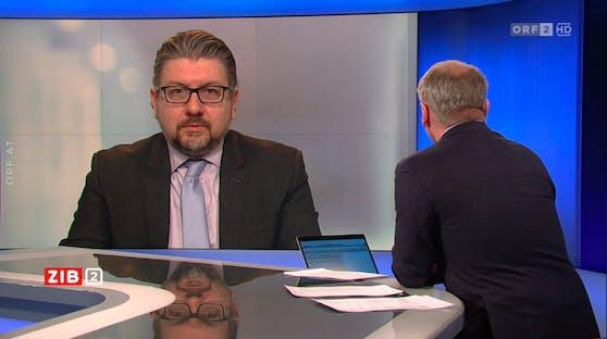 """Gesundheitsökonom Thomas Czypionka zu Gast bei Armin Wolf in der """"ZiB2"""""""