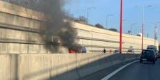 Stau-Chaos – Wiener Tangente nach Autobrand gesperrt