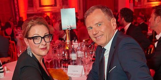Euke Frank und Armin Wolf bei der Romy-Verleihung im Jahr 2019.