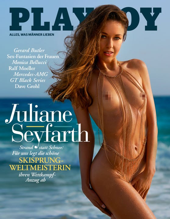 Juliane Seyfarth am Playboy-Cover