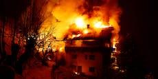 Vier Feuerwehren bekämpften Brand bei Bauernhof