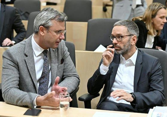 FPÖ-Chef Norbert Hofer und FPÖ-Klubchef Herbert Kickl: Zweiterer machte eine Chef-Ansage
