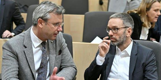Norbert Hofer (FPÖ) und FPÖ-Klubchef Herbert Kickl