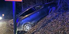 Scheinloser Alko-Lenker (39) baut Crash nach Verfolgung