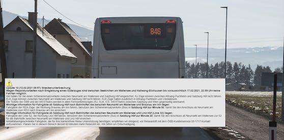 Auf der Weststrecke werden Fahrgäste auf den Schienenersatzverkehr umgeleitet