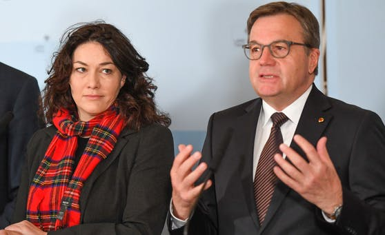 Landeshauptmann Günther Platter (ÖVP) und seine Stellvertreterin Ingrid Felipe (Grüne).
