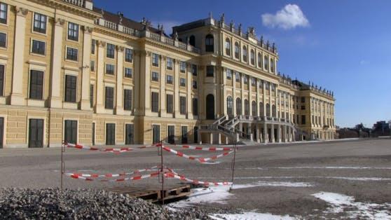 Ungewöhnlicher Anblick: Keine Touristen in Schönbrunn