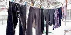 Darum solltest du Wäsche im Winter draußen trocknen