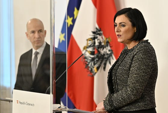 Arbeitsminister Martin Kocher und Tourismusministerin Elisabeth Köstinger.