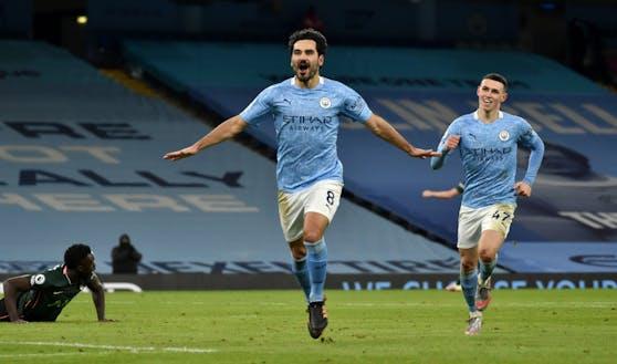 City-Spieler Ilkay Gündogan schnürte einen Doppelpack.