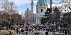 WEGA-Einsatz bei Corona-Demo in Wiener City