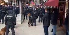 Demo-Chaoten verletzten zwei Polizisten – Festnahmen