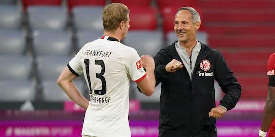 Erfolgsgespann: Martin Hinteregger und Adi Hütter