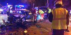 Frontalcrash fordert zwei Verletzte in Wr. Neudorf