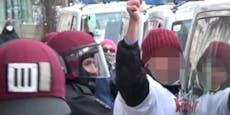 Demo-Rädelsführer in Polizei-Kessel gefangen
