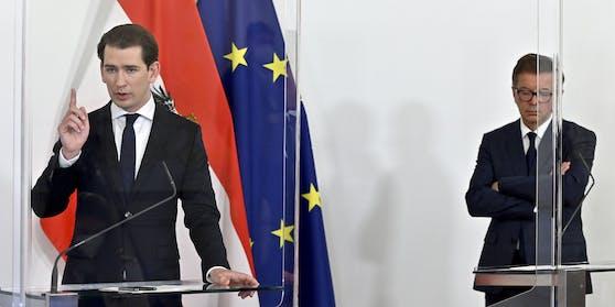 Bundeskanzler Sebastian Kurz (ÖVP) und Rudolf Anschober (Grüne)