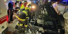 Alkolenkerin (28) nach Überschlag in Auto eingeklemmt