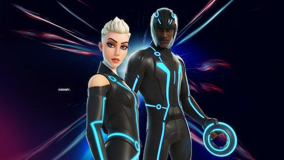 Les tenues Tron seront téléchargées sur Fortnite.