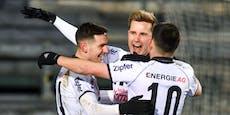 2:0! LASK verdrängt Sturm Graz von Rang drei