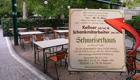 Sperrt die Gastro am 15. März fix auf? Dieses Traditionslokal in Wien sucht schon neue Mitarbeiter.