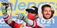 So gratulierte Hirscher Kriechmayr zu Doppel-Gold