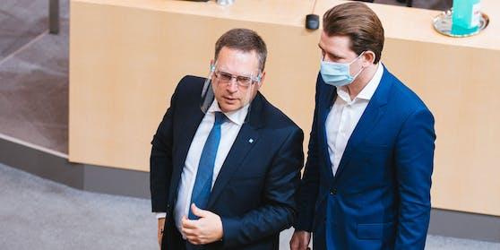 Die ÖVP – hier Klubchef August Wöginger und Kanzler Sebastian Kurz – fordern den Bundesstaatsanwalt.
