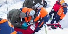 Gestürzter schlittert 400 Meter an Bergrettern vorbei